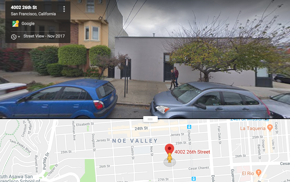 Google map and street view of office. Click to go to Google maps.